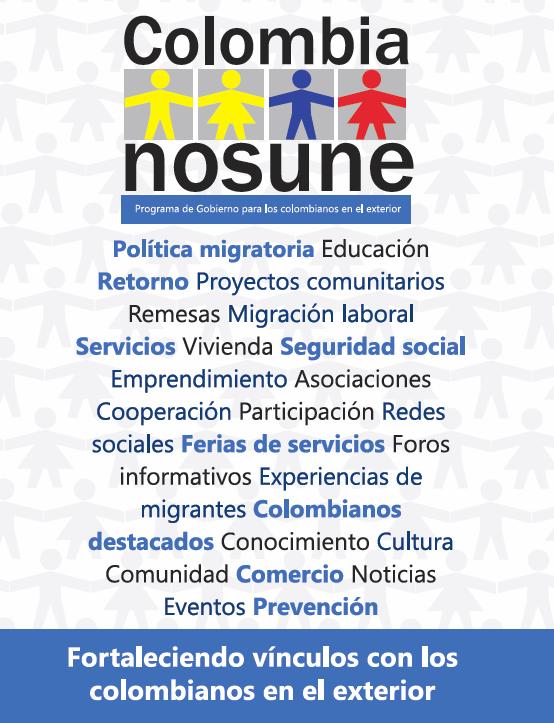 Programa colombia nos une consulado de colombia en kuala lumpur - Ofertas trabajo londres ...